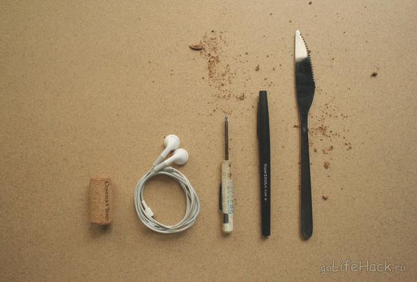 инструменты для хранения наушников лайфхак