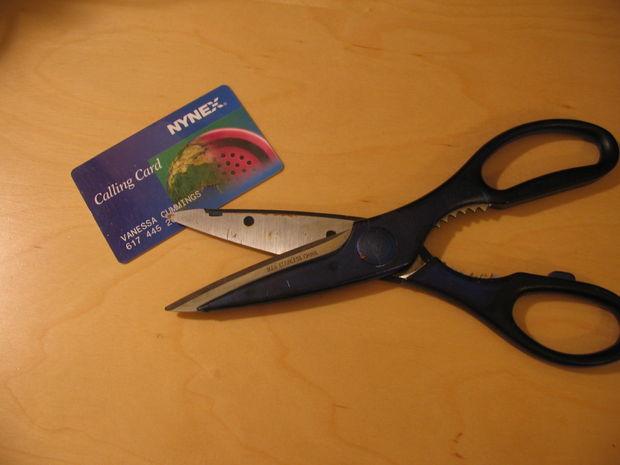 берем в руки ножницы и кредитку