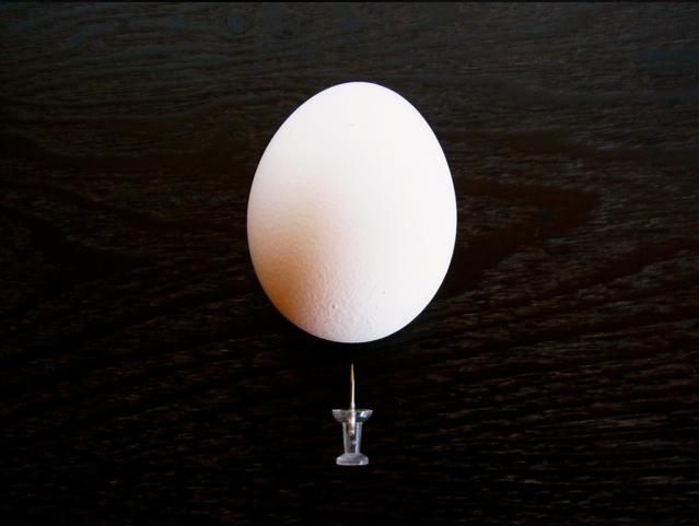 яйцо привести до комнатной температуры