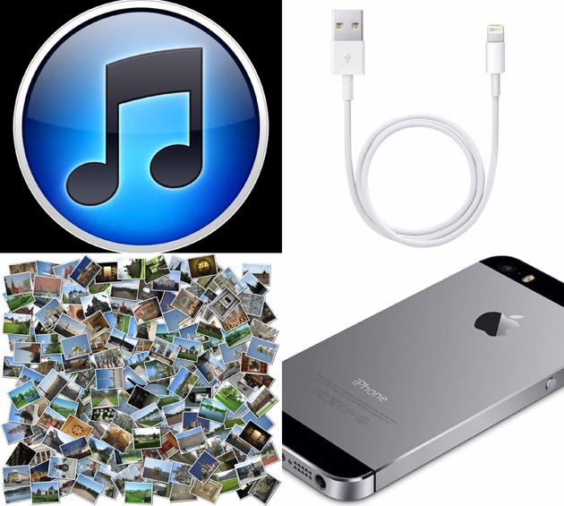 айтюнс, кабель, фотки и сам айфон