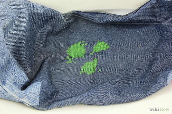 Как отстирать джинсы от краски