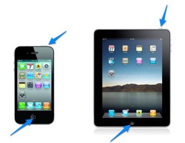 скриншот на айпаде и айфоне