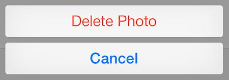 Подтверждаем его, нажав «Удалить фото»