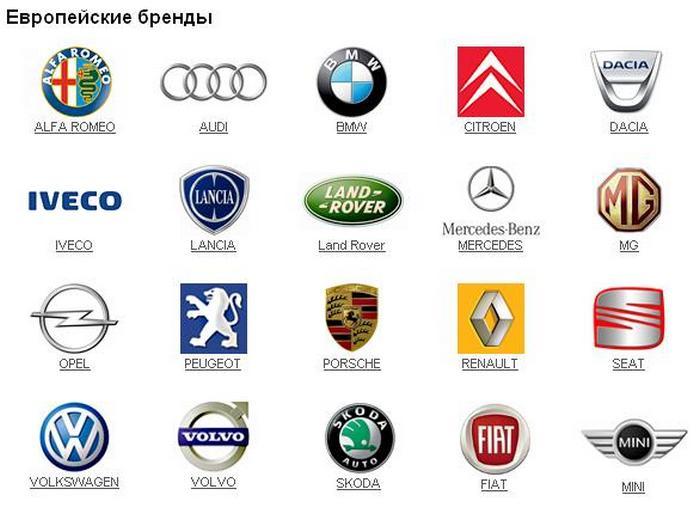 европейские автомобили