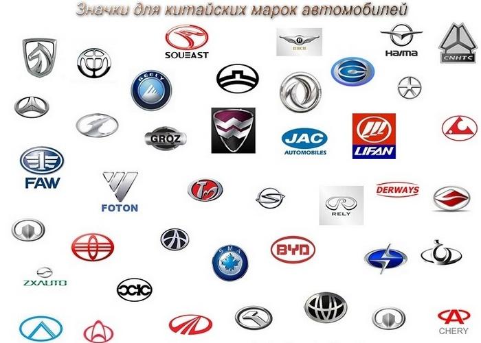 китайские бренды авто