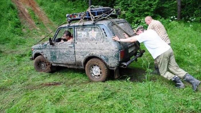 способ толкания автомобиля
