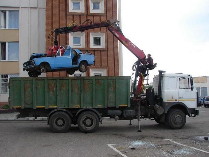 вывоз старого авто в утиль