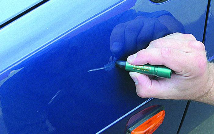 Как заделать сколы на авто