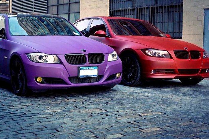 автомобили необычных цветов