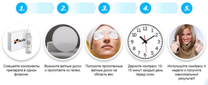 Как применять гель-компресс EyeVision