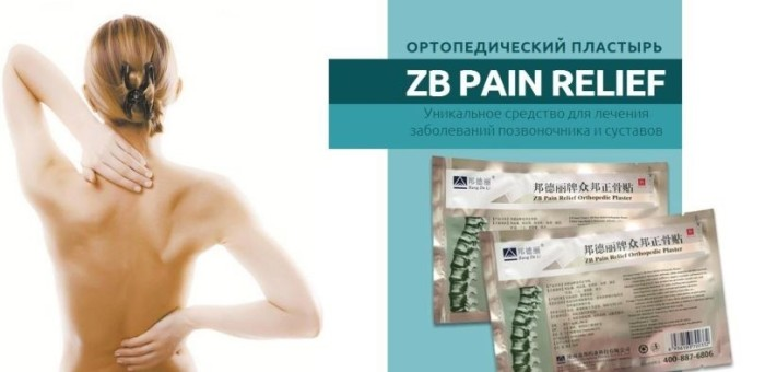 Пластырь ZB Pain Relief