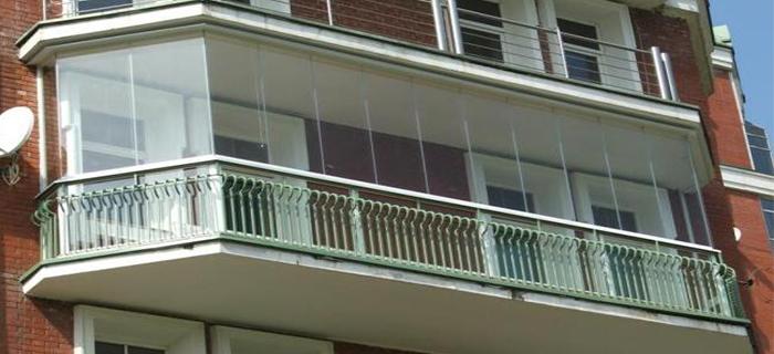 Вид балкона с наружной стороны
