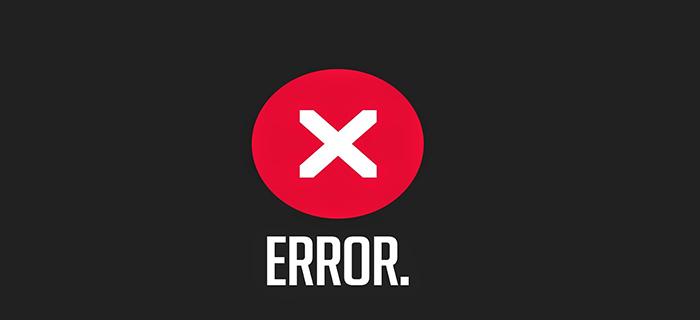 Оповещение экрана ошибки