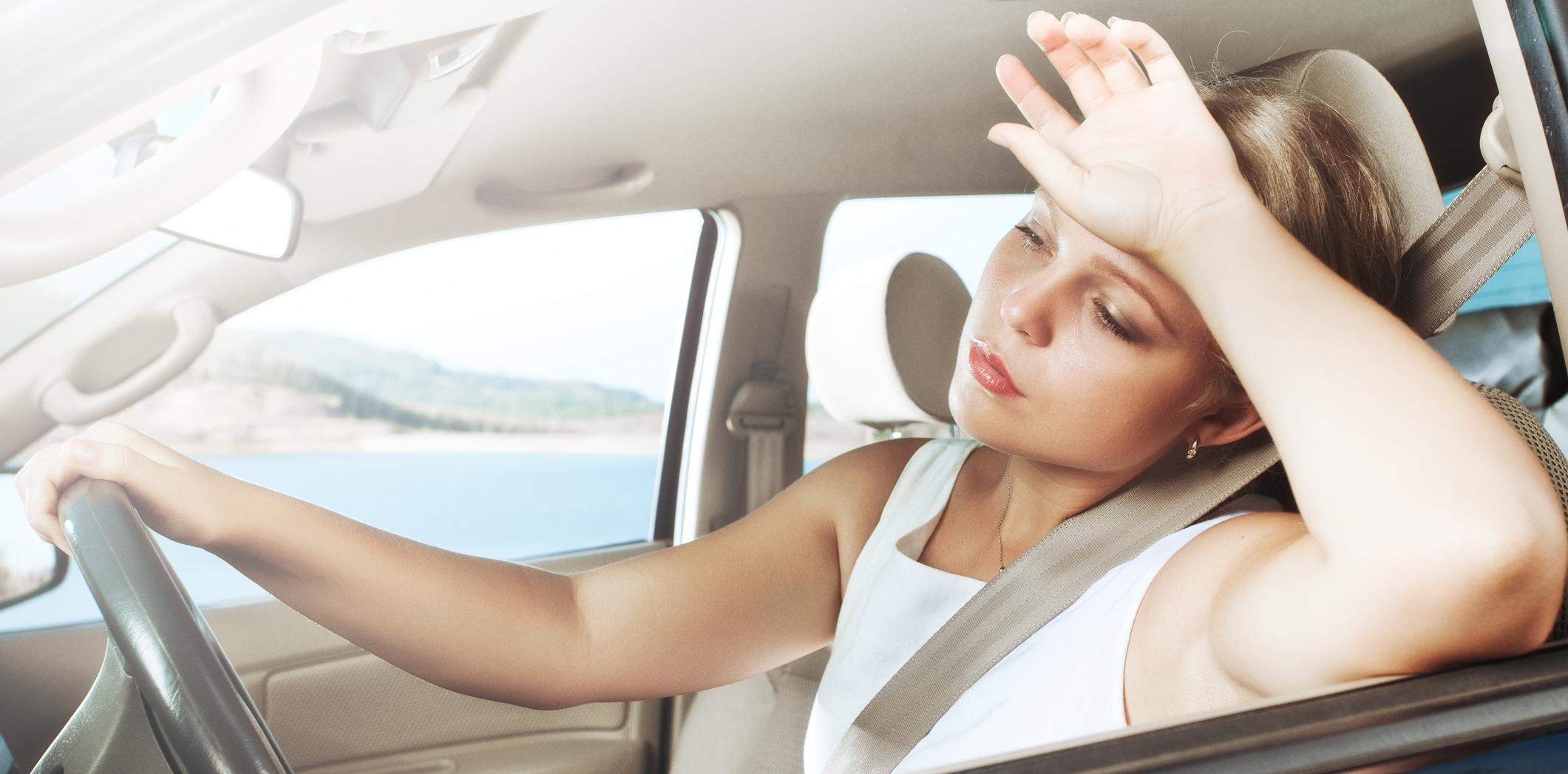Вождение автомобиля в жару