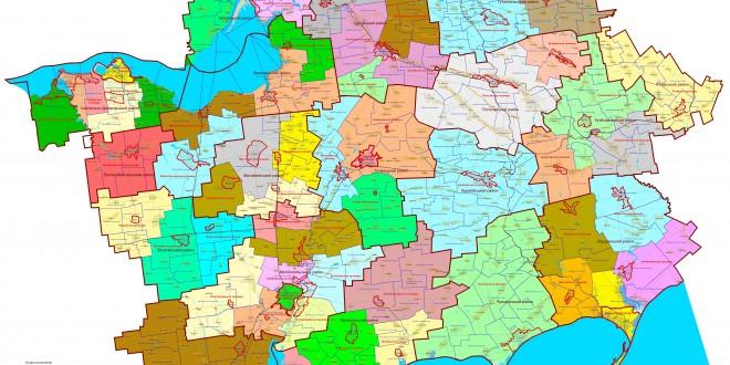 Планы объединения громад на карте