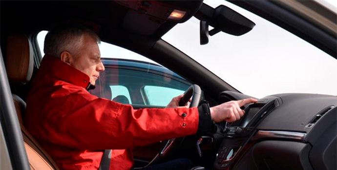 Положение спины водителя