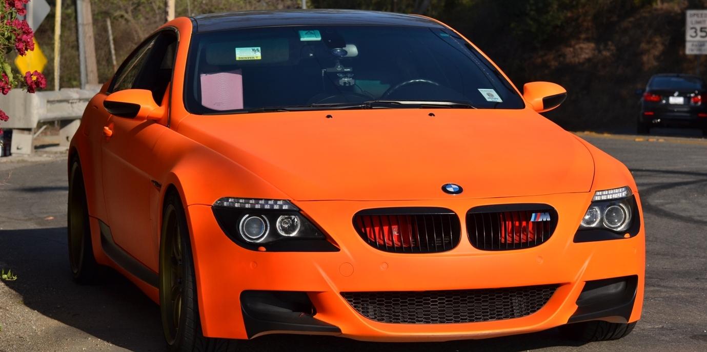Пример автомобиля, покрашенного резиновой краской