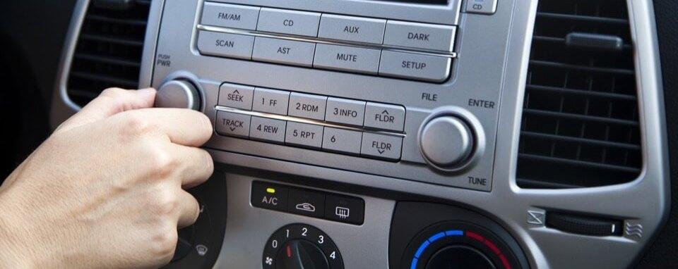 Регулировка громкости в автомобиле