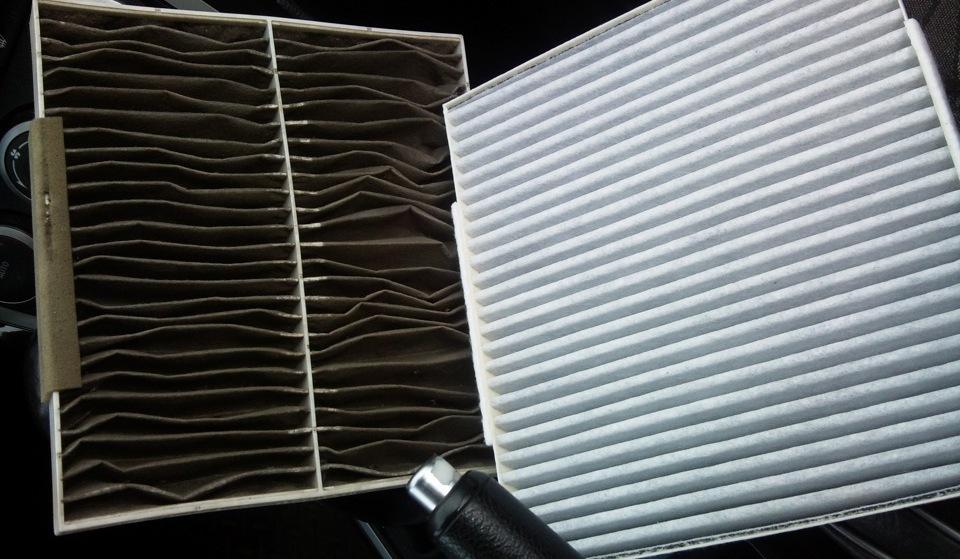 Новый и использованный салонный фильтры