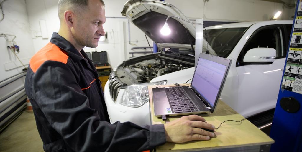 Проведение диагностики автомобиля