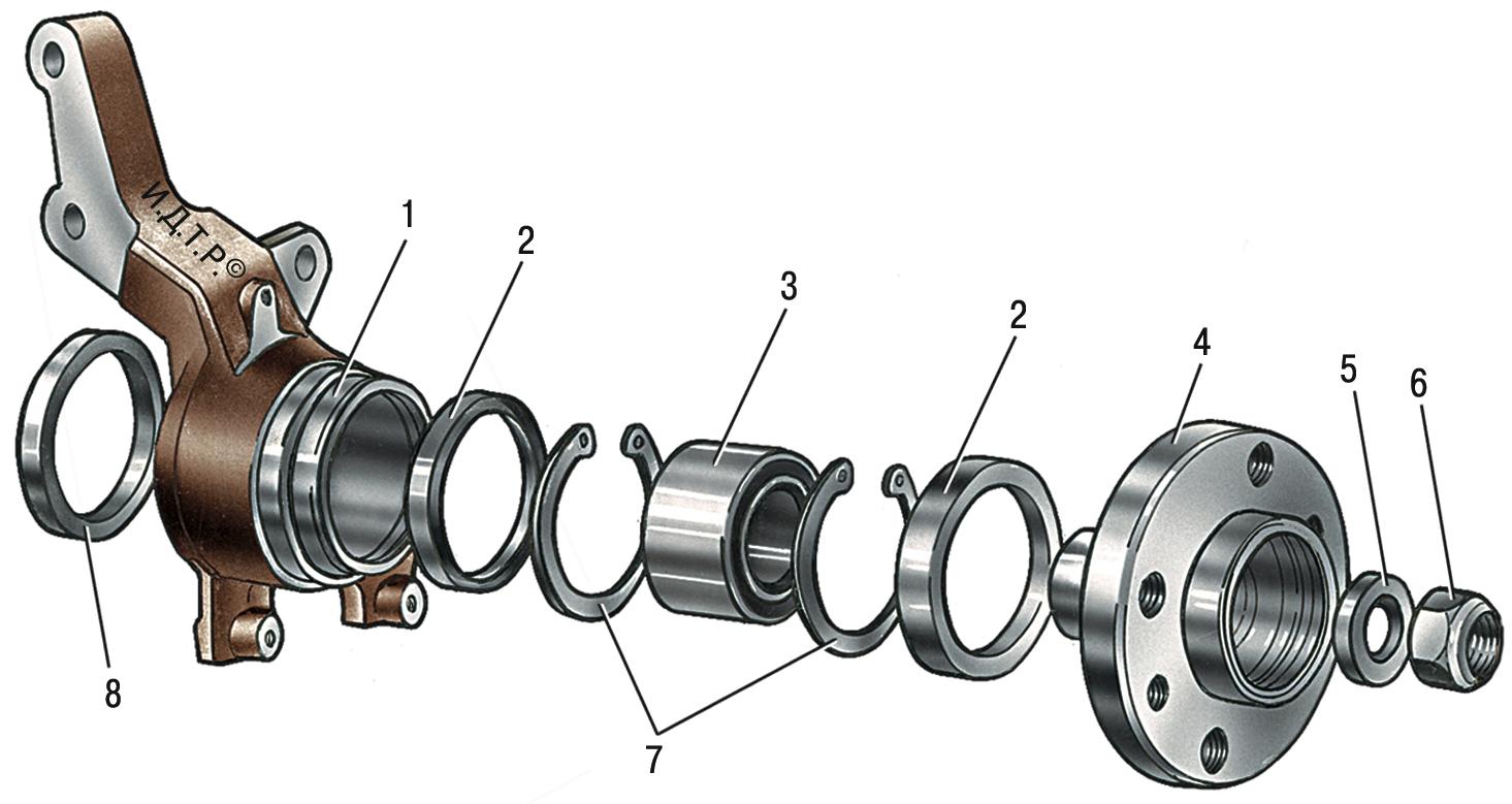 Схема ступицы заднего колеса