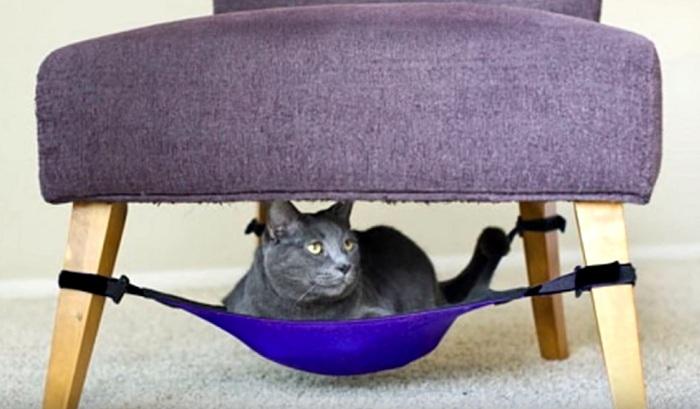 гамак для кота между ножек стула