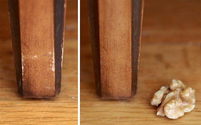 грецкий орех и царапины на мебели