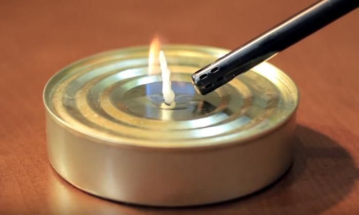 свеча из консервной банки
