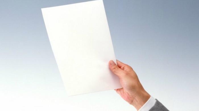 чистый лист бумаги