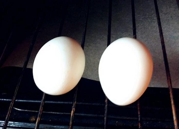 яйца вкрутую в духовке