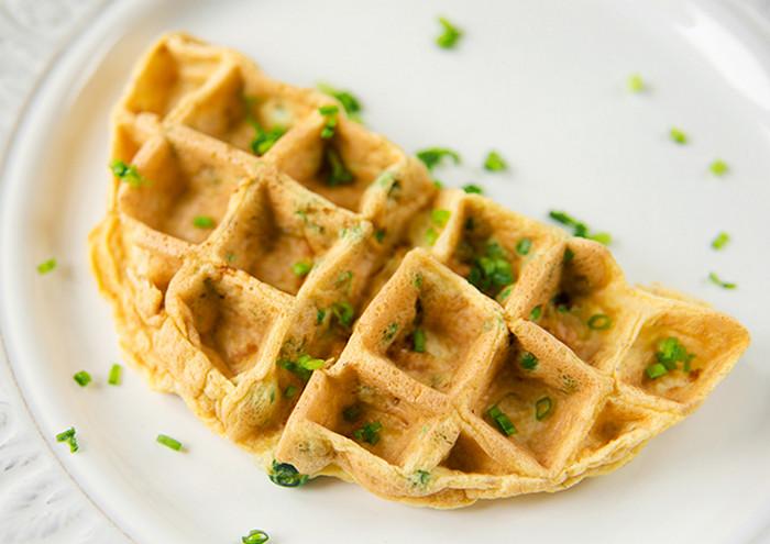 омлет в вафельнице