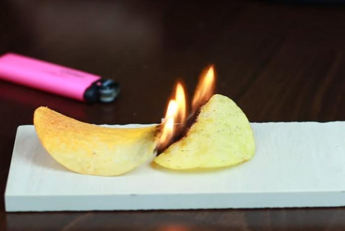 чипсы горят