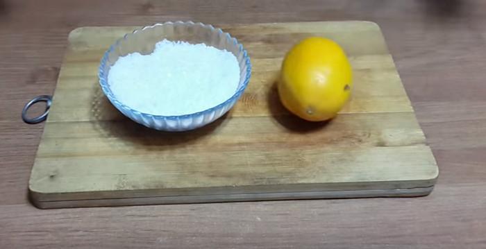 разделочная доска лимон соль