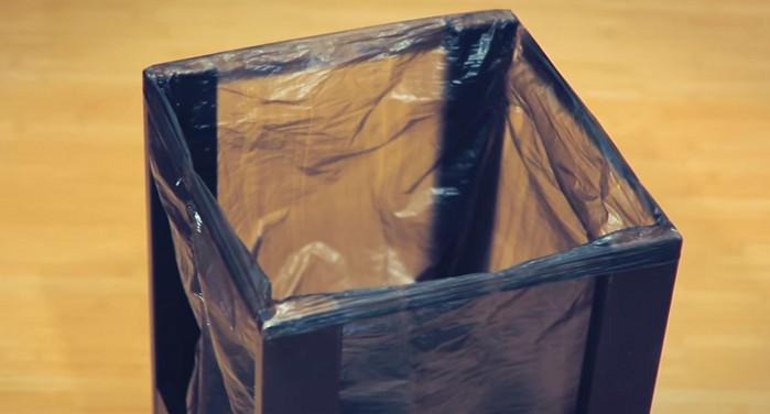 мусорка из табурета