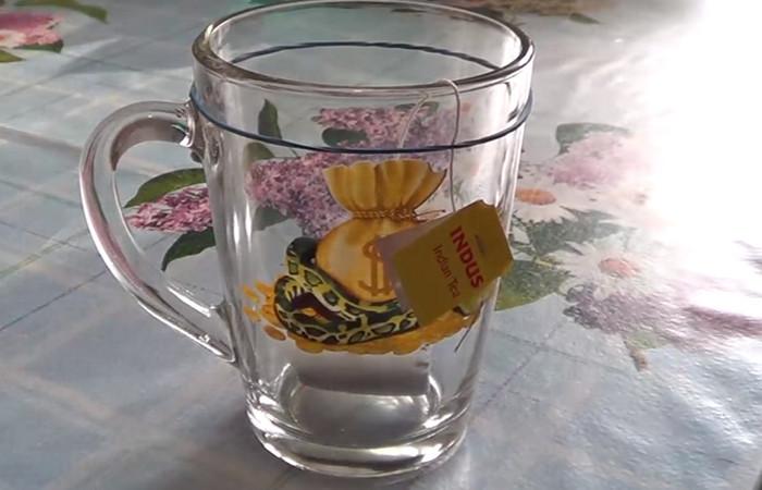 кружка с чайным пакетиком