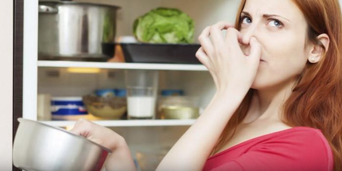неприятный запах из холодильника