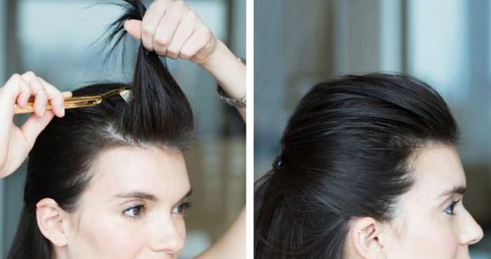 начес на волосах