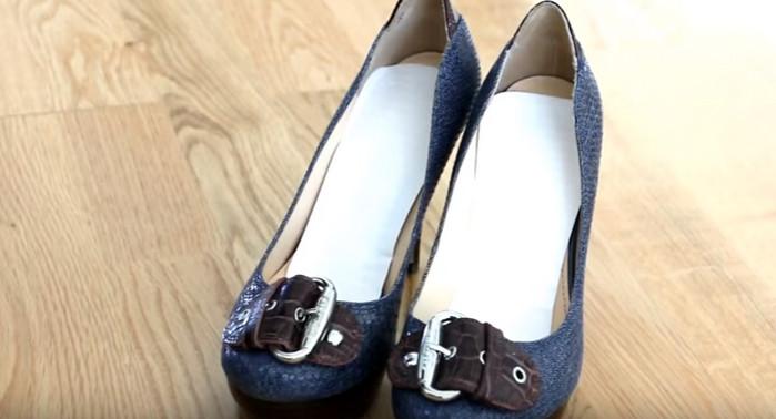 женские туфли со стельками из прокладок