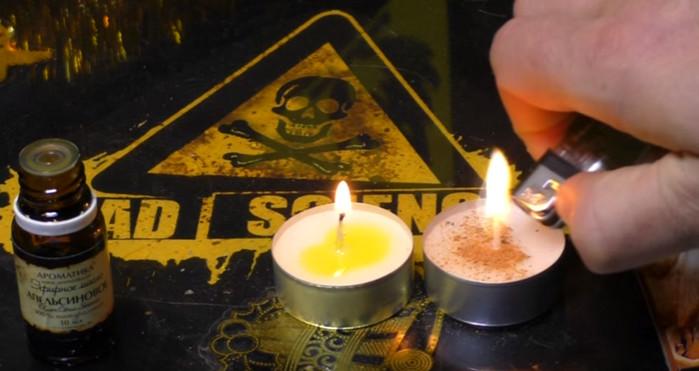 свечи с корицей