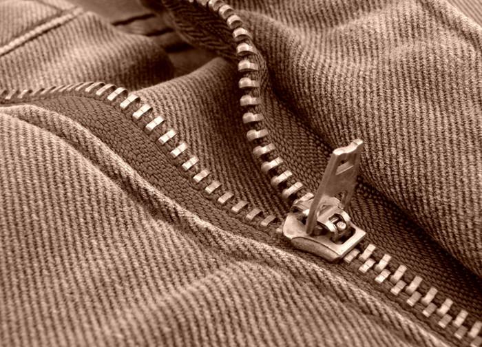 молния на брюках