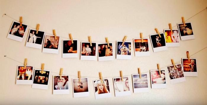 фотографии на веревках