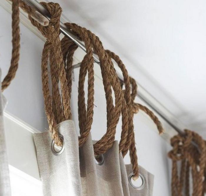 шторы на веревках