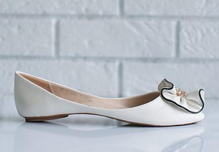 туфли невесты на плоской подошве