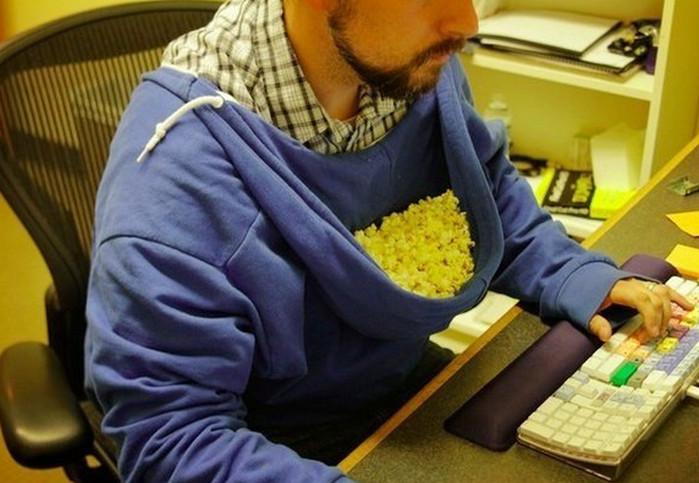 попкорн в капюшоне