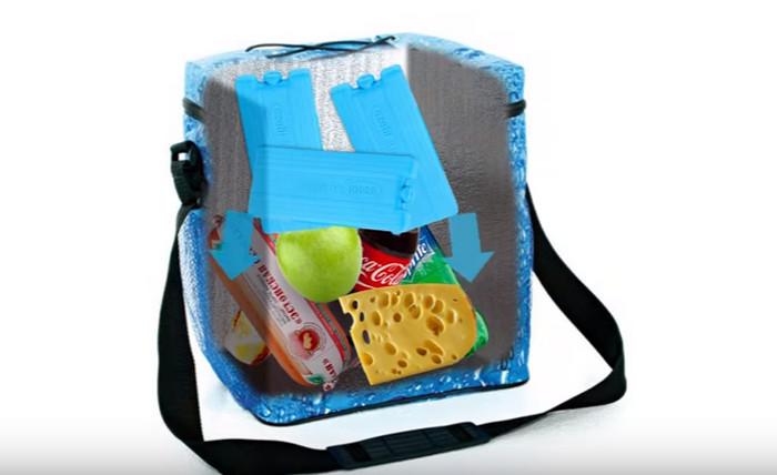 сумка-холодильник с продуктами