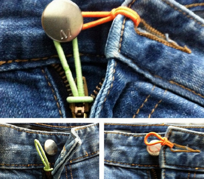 резинка для волос в джинсах