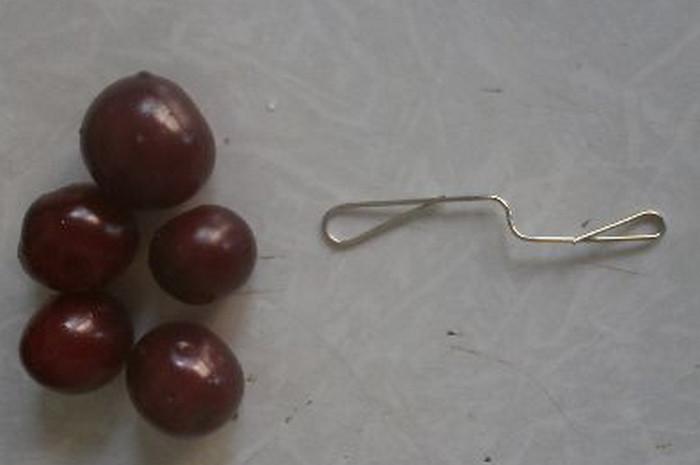 вишни и скрепка