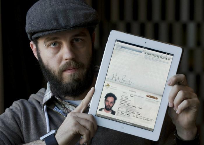 планшет с электронной копией паспорта
