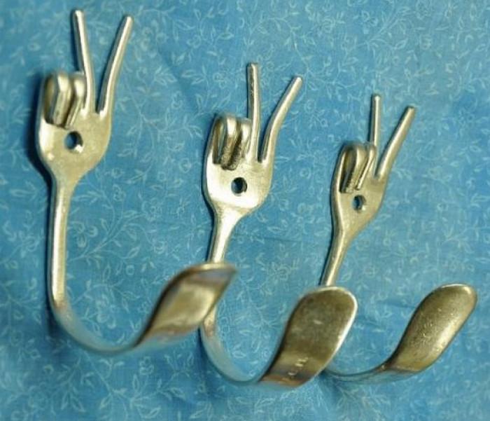 крючки из вилок
