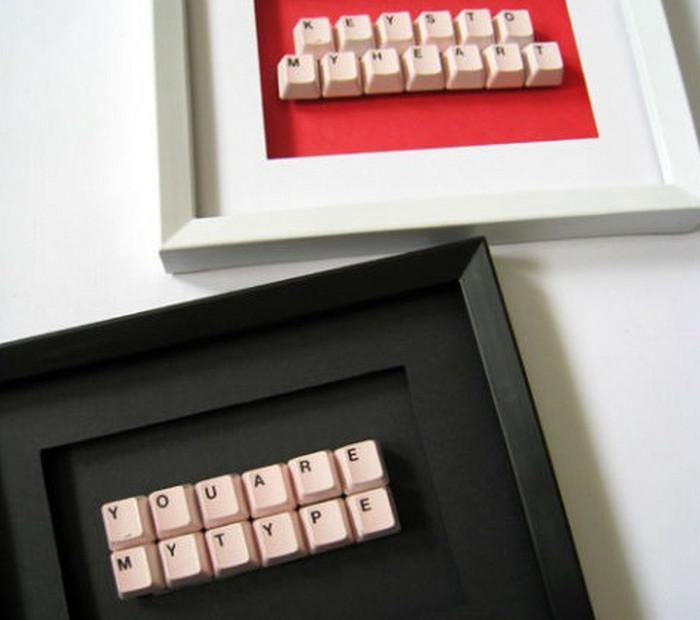 клавиши из клавиатуры в рамке